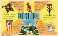 postcard USA  Ohio multi historical sectional    unposted
