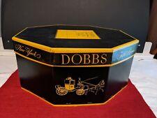 Vintage Dobbs Fifth Avenue New York Octagon Hat Box Only Storage Black & Yellow