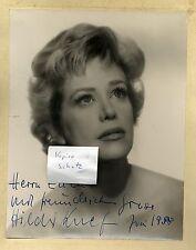 Rarität  29 x 23 cm Foto org.  Agfa Brovira Hildegard Knef Juni 1958 signiert