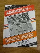 13/04/1988 Scottish Cup Semi-Final Replay: Aberdeen v Dundee United [At Dens Par