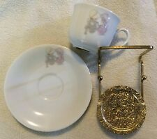 Enesco - Precious Moments Cup, Saucer & Stand Set - Our Friendship Hits the Spot