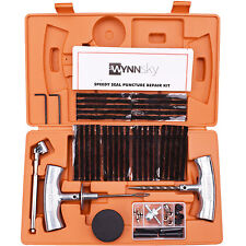 Orange Speedy Seal Tire Puncture Repair Tools Kit Heavy Duty-56 Pc Set For Jeep