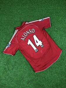 Liverpool Home 2006-07 Alonso 14 Size L