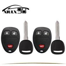 2 Replacement for Chevy Silverado Suburban Remote Key Fob 3b Set(Fits: Chevrole)
