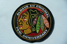 "CHICAGO BLACKHAWKS ""75th ANNIVERSARY PATCH"""