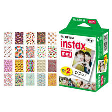 Fujifilm instax mini Instant Film (20 Exposures) + 20 Cake Sticker Border Frames