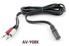 6ft 3.5mm 2-Mono Male to Stereo Female Audio Joiner Cable, CablesOnline AV-Y08K