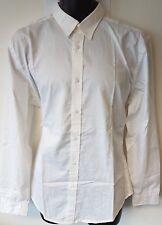 Calvin Klein Shirt - White - Large - Regular Fit - 100% Cotton