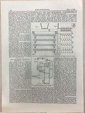 Brown's Water Cooling Tower Etc.: 1908 Engineering Magazine Print