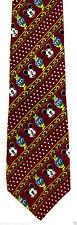 Disney Mickey Mouse Wink Mens Neck Tie Red Silk Necktie Cartoon Gift New