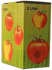 25 piezas 3 Liter Bolsa En Caja Cartón en manzana decorativa ( 1,14€/ 1Pza )