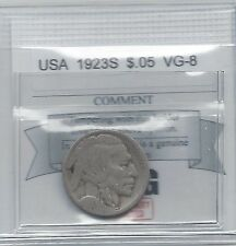 **1923S** USA Five Cent Nickel Coin