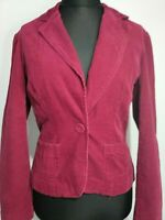Laura Ashley Fushia Pink Cord Boho Jacket Size UK 14 pockets blazer pretty