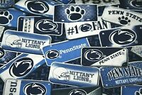 "Penn State Logo Fabric Cotton Material for Face Mask 1/4 yd 9"" x 42""  NCAA #"
