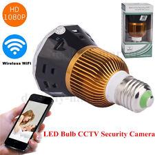 E27 LED bulb CCTV security Video DVR HD 1080P wifi Wireless camera +32GB