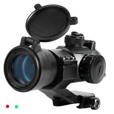 Tactical 32mm Red/Green Dot Rifle Scope Sight Picatinny Weaver Rail Mount 2017
