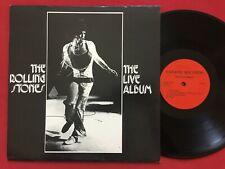 THE ROLLING STONES ~ THE LIVE ALBUM LP ~ RARE LIMITED EDITION PROMO FANATIC 5228