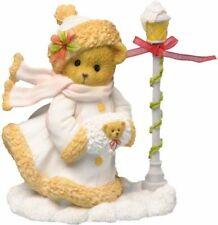 Cherished Teddies 2013 Figurine, Hollie, Snow, Light Pole, Muff, 4034604, Nib