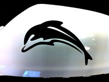 Dolphin Car Sticker Wing Mirror Styling Decals (Set of 2), Black