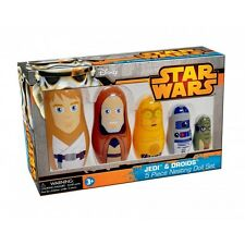 STAR WARS JEDI & DROIDS 5 PIECE NESTING DOLL SET BRAND NEW YODA, R2-D2, LUKE