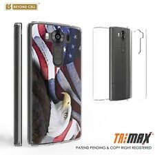 Beyond Cell Tri Max®LG V10 Case, Ultra Slim 360°Full Body Cover-Eagle/USA Flag