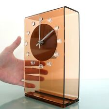 EMES Mantel Clock Vintage Rarity!! RETRO Space Age TRANSLUCENT! Electric Germany
