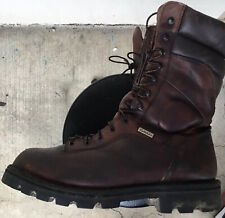 Cabelas Gore Tex Thinsulate Ultra Hunting Leather Boots 13 EE Wide Vibram Soles