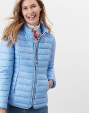 NEW! Joules Canterbury Short Luxe Padded Jacket Light Blue Size 10 - 18