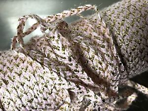 """Vintage French Millinery 1/4"""" Pink Gold Braid Trim 1940s 1yd Made in France"""