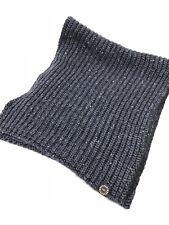 UGG Australia Mens Two Toned Rib Scarf Graphite Heather 1090094 Knit Wool Blend