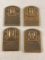 LOT of 4 PRE-1900 PLAYERS MINIATURE BRONZE BASEBALL HALL OF FAME PLAQUES