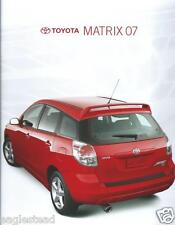 Auto Brochure - Toyota - Matrix - 2007  (AB836)