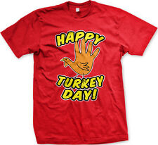Happy Turkey Day Thanksgiving Holiday Celebrate Thankful Harvest Mens T-shirt