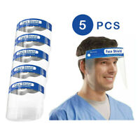 5 Pcs Safety Face Shield  Anti-Splash Reusable Transparent Anti-Fog