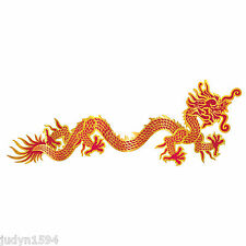 JOINTED DRAGON CUTOUT BANNER RED & GOLD CHINESE NEW YEAR ASIAN PARTY DECORATION