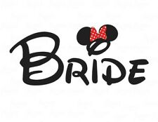 DISNEY MICKEY MOUSE VACATION WEDDING BRIDE::::::::::::  T-SHIRT IRON ON TRANSFER