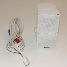BOSE WHITE DOUBLECUBE JEWEL SPEAKER LIFESTYLE PREMIUM WITH CORD WIRE