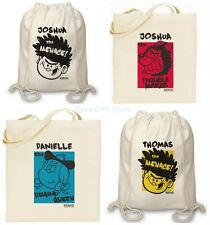 Personalised BEANO Cotton Novelty Fun Tote Bags Backpack BACK TO SCHOOL Gifts