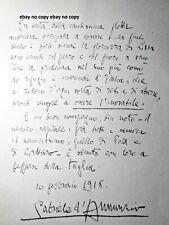 W1 MAS GABRIELE D'ANNUNZIO LA BEFFA DI BUCCARI-MESSAGGIO AGLI AUSTRIACI1918 COPY
