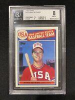 1985 Topps Mark McGwire #401 BGS 8 NM-MT Rookie Card RC Beckett Baseball MLB USA