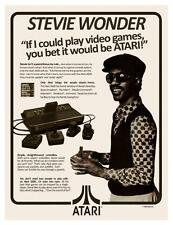 Stevie Wonder ATARI 2600 *POSTER*  70's Video Game Console VERY FUNNY - MUST SEE