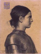 Jeanne d'arc paul dubois france français 1873, 7x5 pouces imprimer
