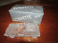 Hofbauer 24% Crystal glass 1959 Chevy Corvette antique car W. Germany 1980's Box