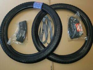 ☻Moped Mofa 2 Reifen mit 2 felgenband und 2 Schlauch Set 2 1/4 - 17 28N 21x2.25