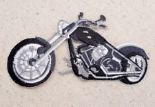 Black/White Motorcycle - Bike - Iron on Applique/Embroidered Patch