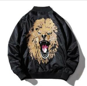 Mens Youth Fashion Embroidered Hip Hop Baseball Bomber Jacket Coat Outwear SKGB