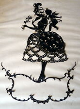 Antique c.1920 Hand Cut Paper CUPID Silhouette FRIEDRICH KASKELINE (1863-1930)