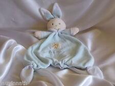Doudou lapin bleu et blanc, Nounours