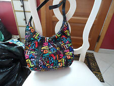 Vera Bradley From A to Vera pattern crossbody tote bag