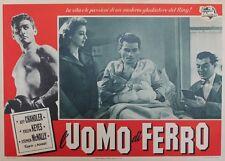 """""""IRON MAN (L'UOMO DI FERRO)"""" Affiche entoilée (Jeff CHANDLER / Joseph PEVNEY)"""
